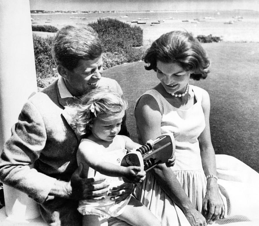 1960s Photograph - Senator John F. Kennedy, Caroline by Everett