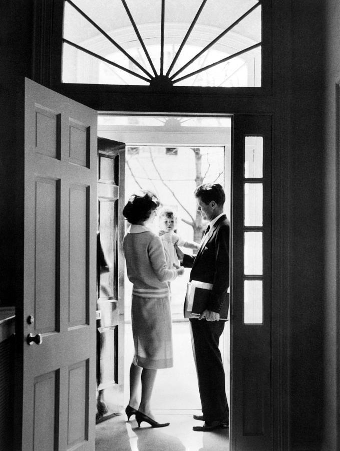 1950s Photograph - Senator John F. Kennedy Right, Jackie by Everett