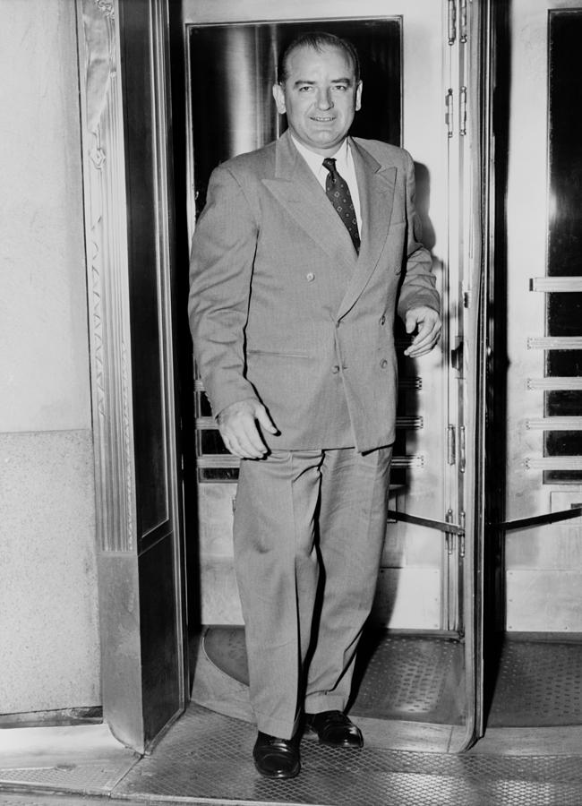 History Photograph - Senator Joseph Mccarthy, Leaving by Everett