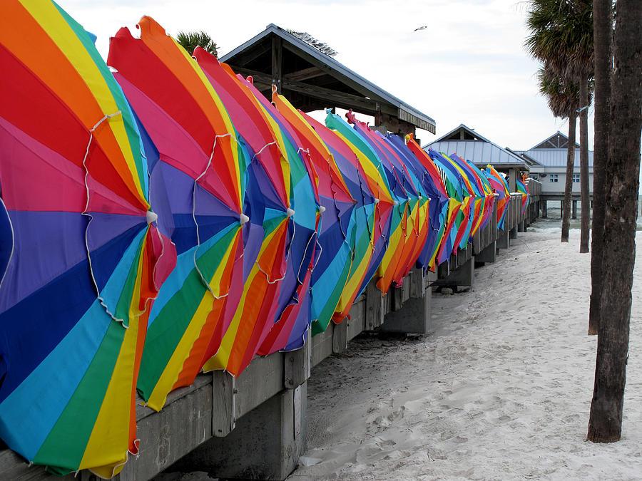Umbrellas Pyrography - Send Storm by Monika A Leon