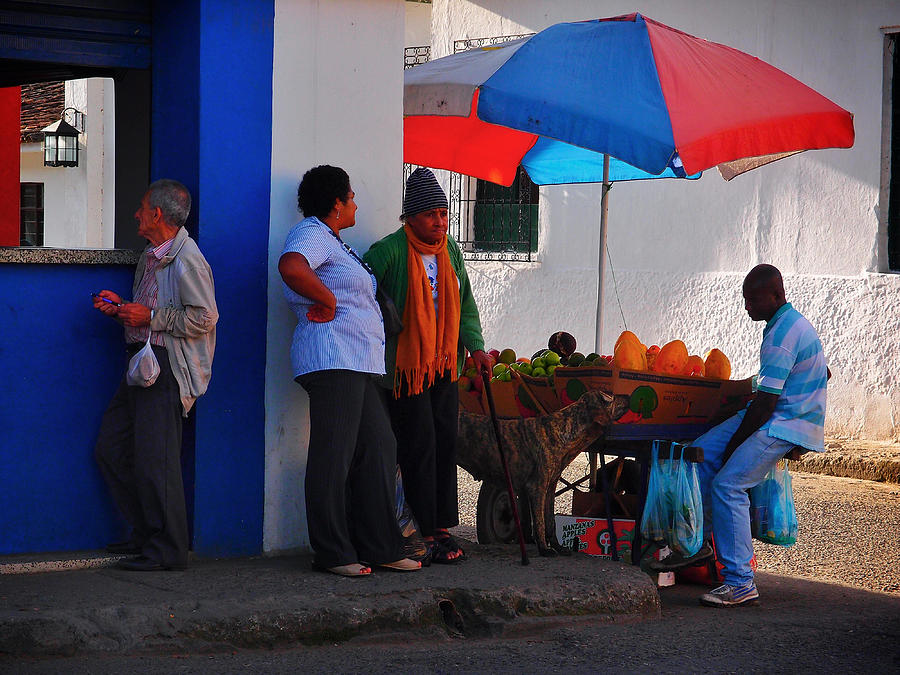 Colombia Photograph - Senor Papaya by Skip Hunt