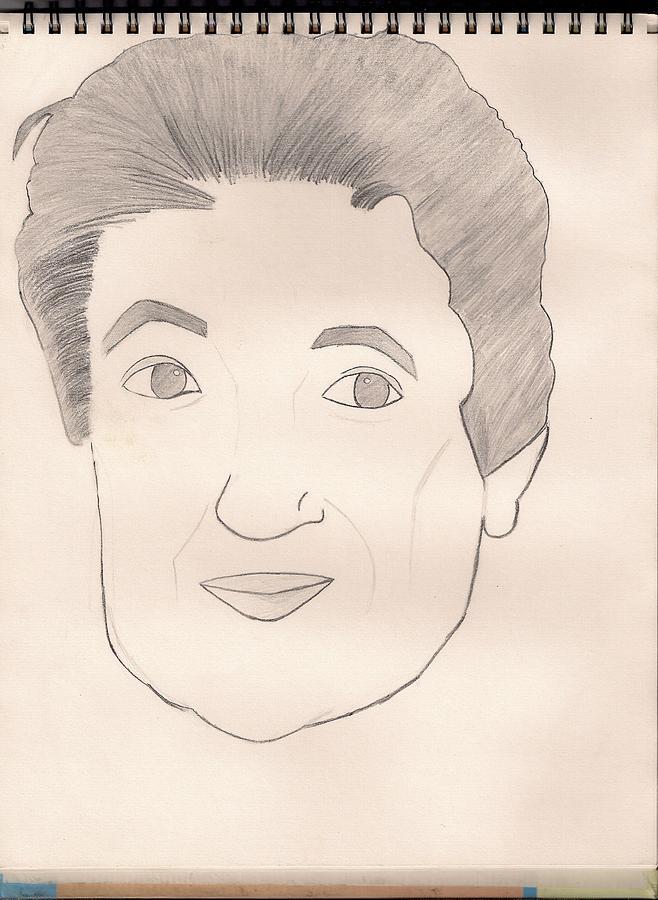 Senora Drawing - Senora Mercedes by Mariam Ahmad