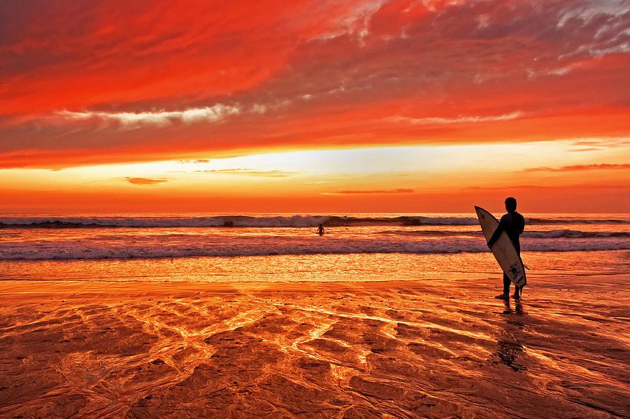 California Photograph - Sensational Sunset Surf by Donna Pagakis