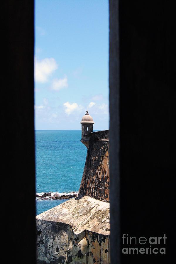 El Morro Photograph - Sentry Tower View Castillo San Felipe Del Morro San Juan Puerto Rico by Shawn OBrien