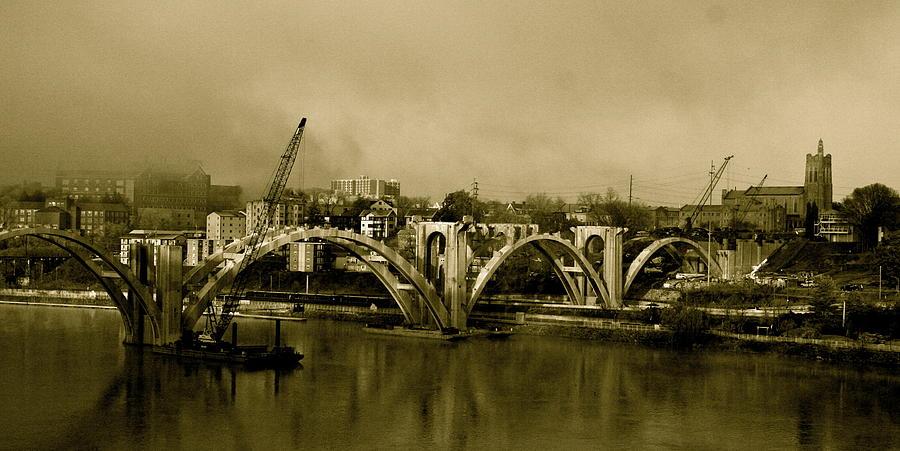 Bridge Photograph - Sepia Awakenings by Jeanne Thomas