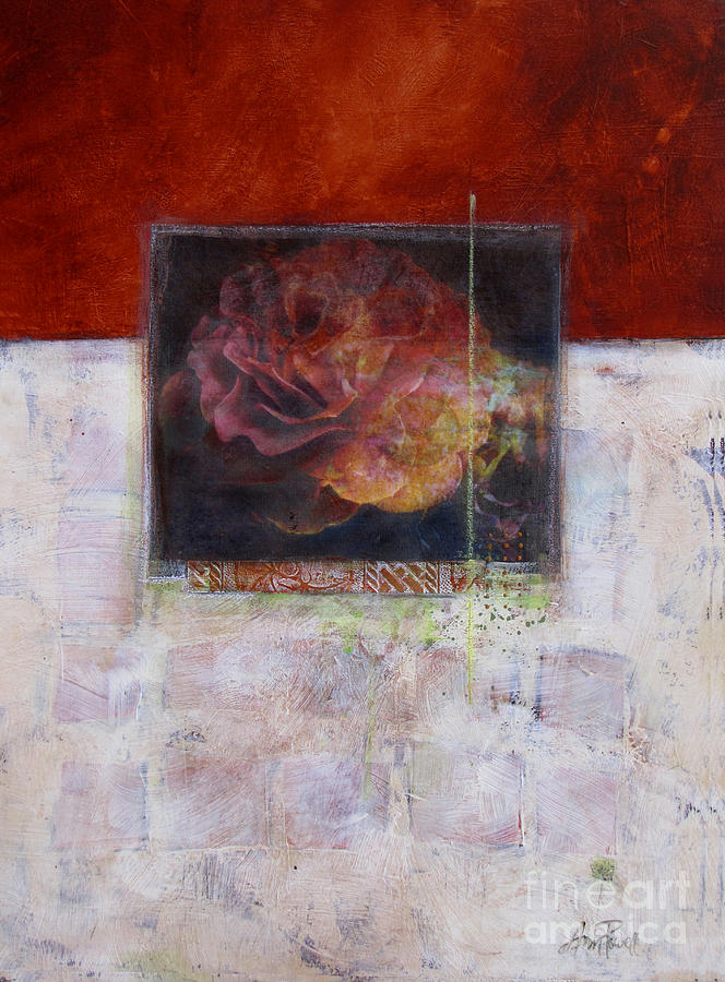 Abstract Floral Mixed Media - September Rose by Ann Powell