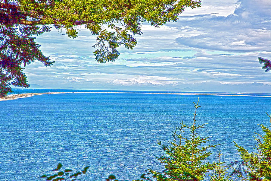 Sequim Bay State Park Photograph - Sequims Dungeness Spit by Molly Heng