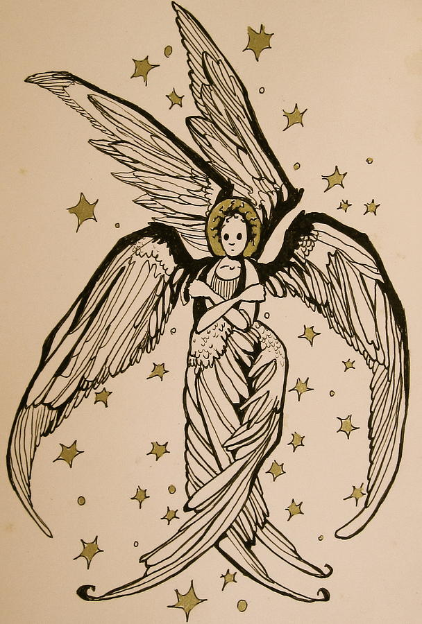Seraphim Angel Drawing - Seraphim by Jackie Rock