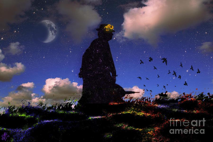 Night Digital Art - Seraphine - J. S. Bach by Rosa Cobos