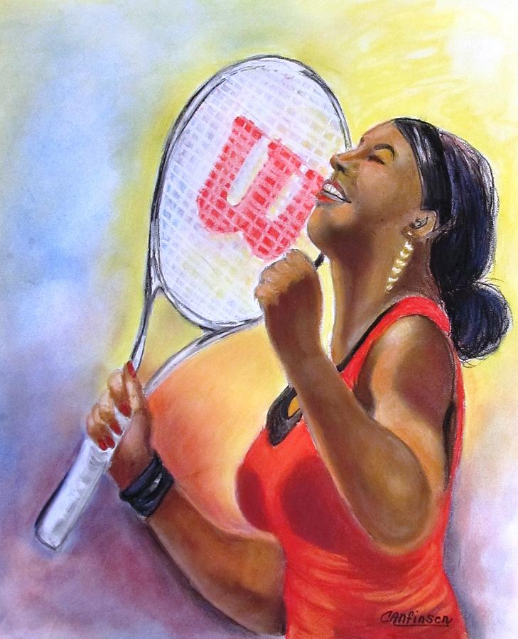 Serena Drawing - Serena Shines by Carol Allen Anfinsen