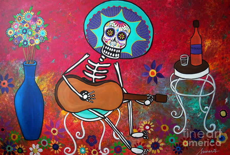 Mexican Modern Art With Instruments