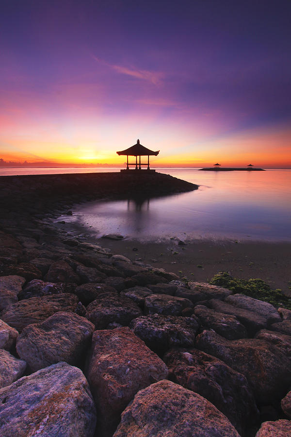 Landscape Photograph - Serene Dawn by Pandu Adnyana