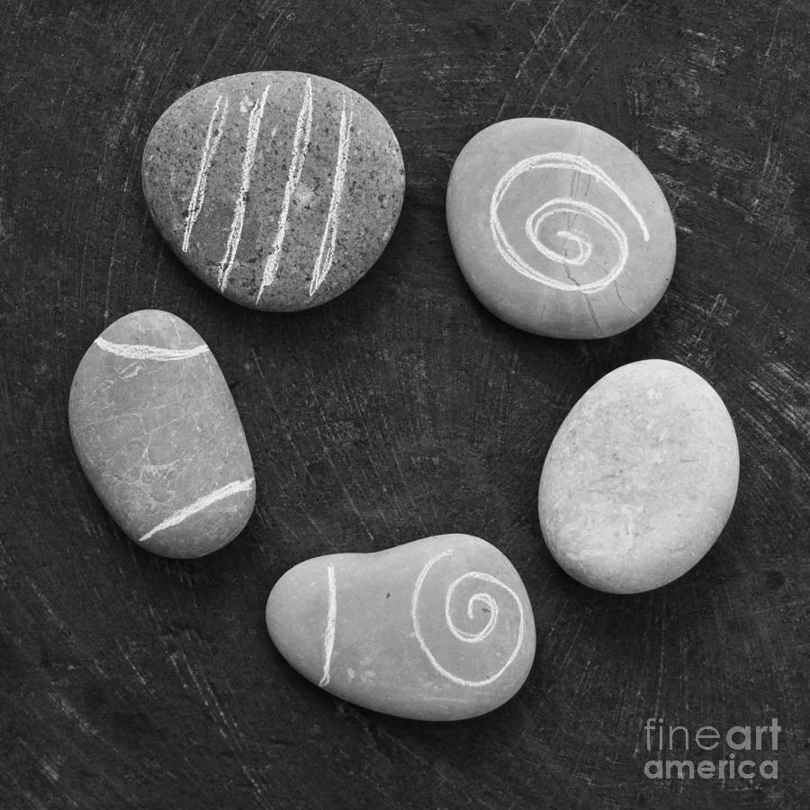 Stones Photograph - Serenity Stones by Linda Woods