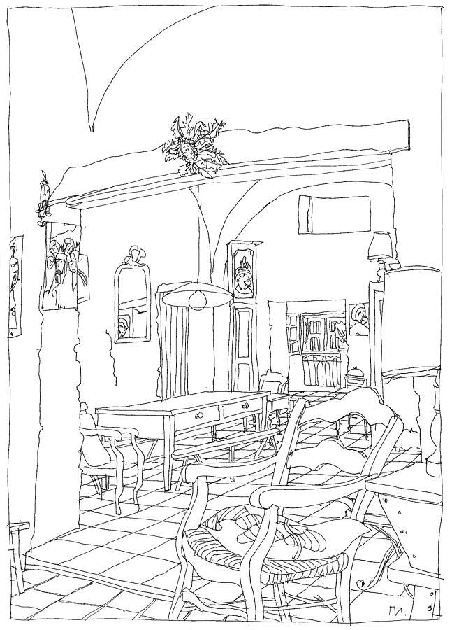 Serignac Drawing - Serignac 3 by Leonid Petrushin