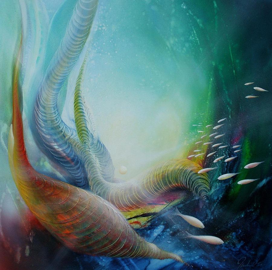 Fish Painting - Serpula Spiralis by Drazen Pavlovic