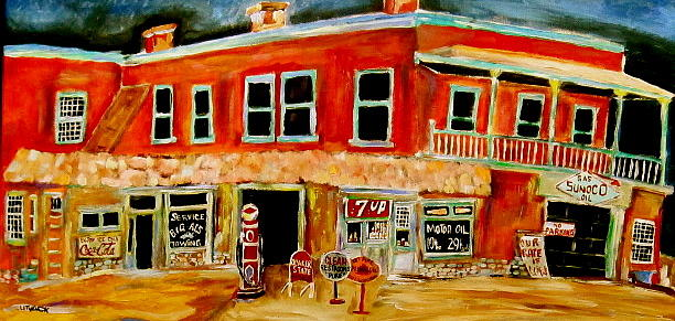 Sunoco Painting - Service Station by Michael Litvack