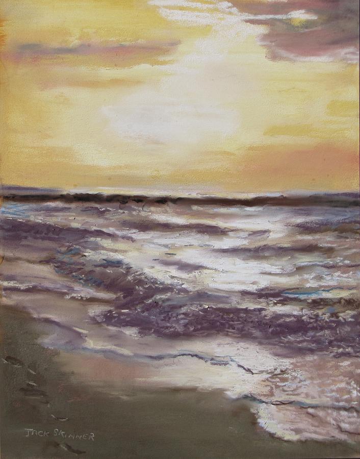 Sunset Painting - Sesuit Sunset by Jack Skinner
