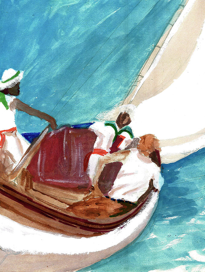 Setting Sail Painting by Harry Richards