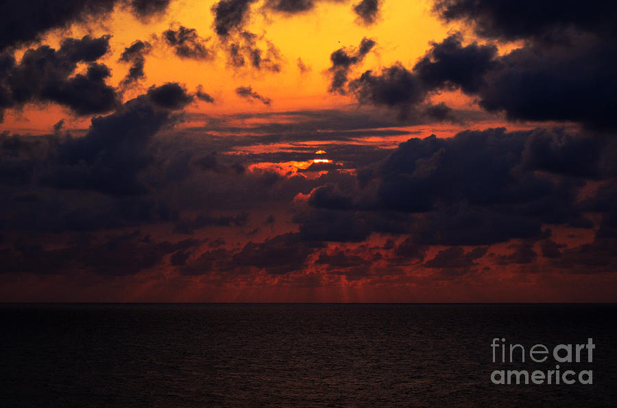 Sunset Photograph - Setting Sun At South Beach by Pravine Chester