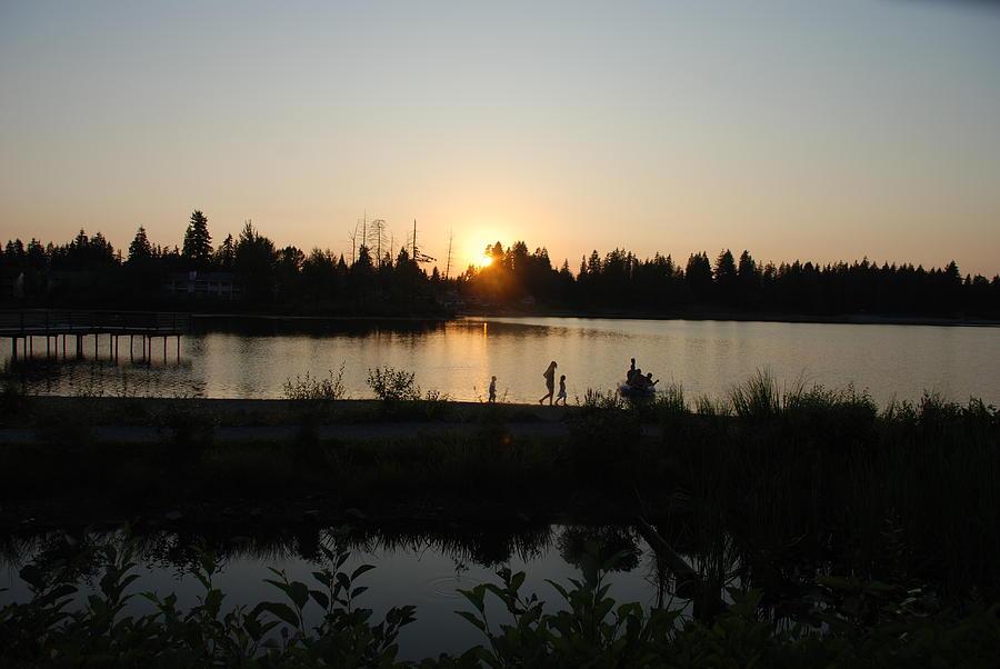 Summer Photograph - Setting Sun by Michael Merry