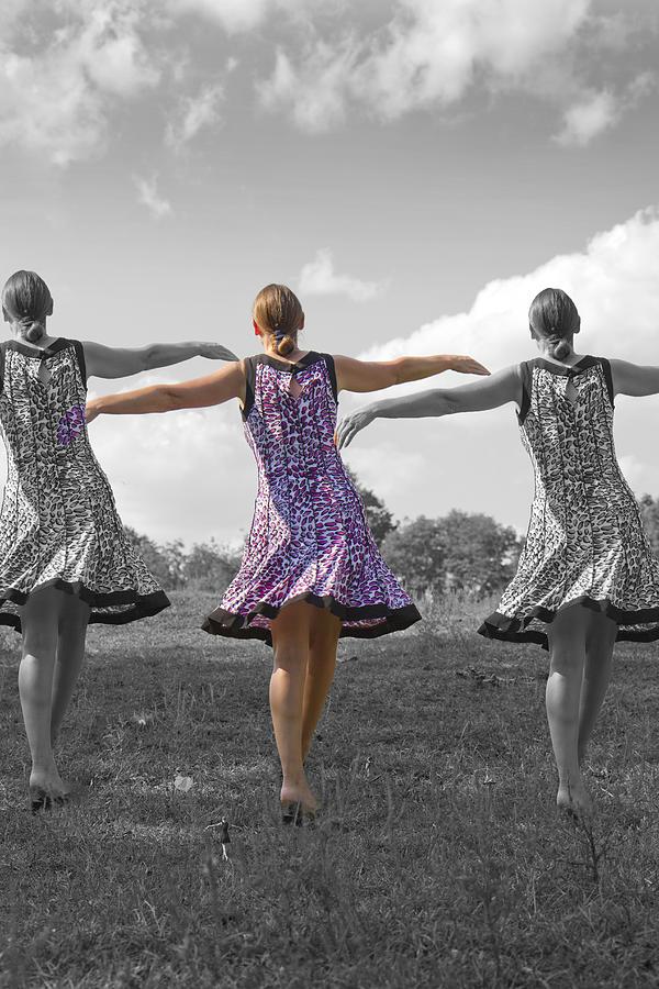 Girls Digital Art - Seven  by Betsy Knapp
