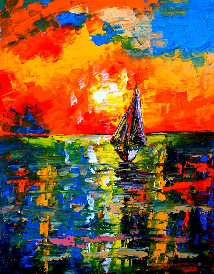 Abstract Painting - Seven Oceans Away by Artist SinGh