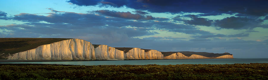 Seven Sisters Photograph - Seven Sisters Panorama by Mark Leader