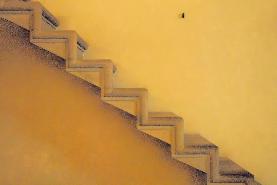 Stairs Photograph - Seven Steps To by