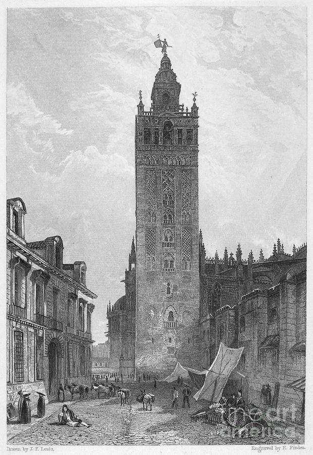 1833 Photograph - Seville: The Giralda by Granger