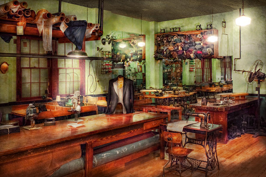 Sewing Photograph - Sewing - Industrial - The Sweat Shop  by Mike Savad