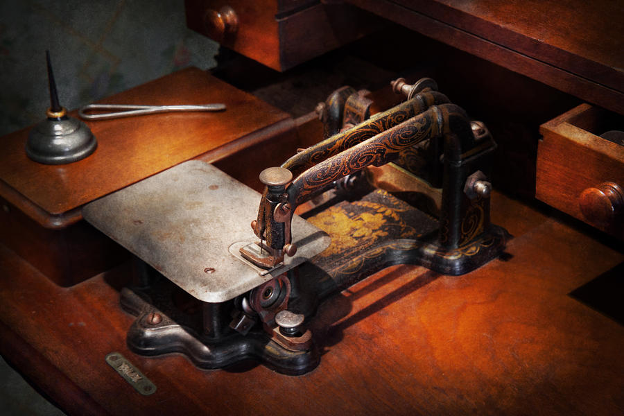Sewing Photograph - Sewing Machine - Sewing For Small Hands  by Mike Savad