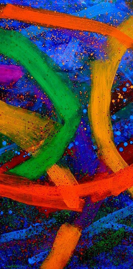 Abstract Mixed Media - Sextet   Iv  by John  Nolan