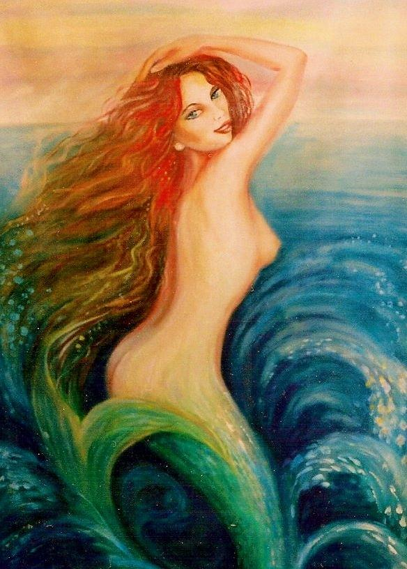 Sexy nude mermaid art