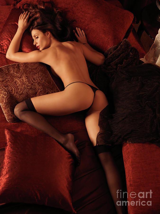sexy sleep on bed
