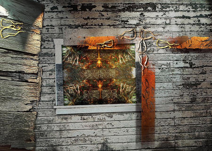 Wood Mixed Media - Shack-2 by Janet Kearns