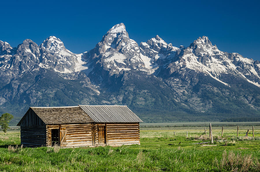 Mormon Row Photograph - Shack And Grand Tetons by Greg Nyquist