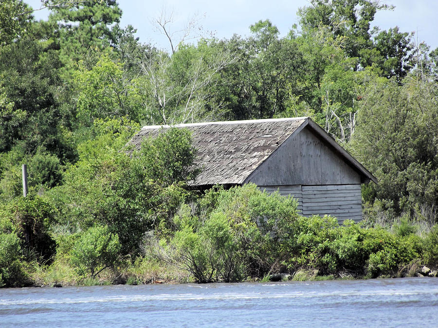 Wooden Photograph - Shack On The River by Jennifer Stockman