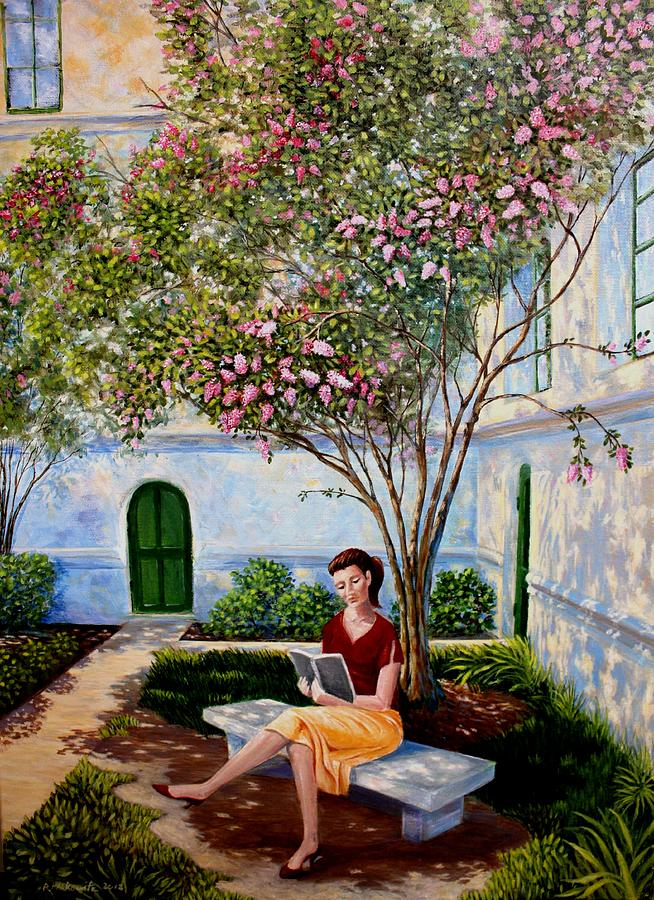 Park Bench Painting - Shade by Ron  Markowitz