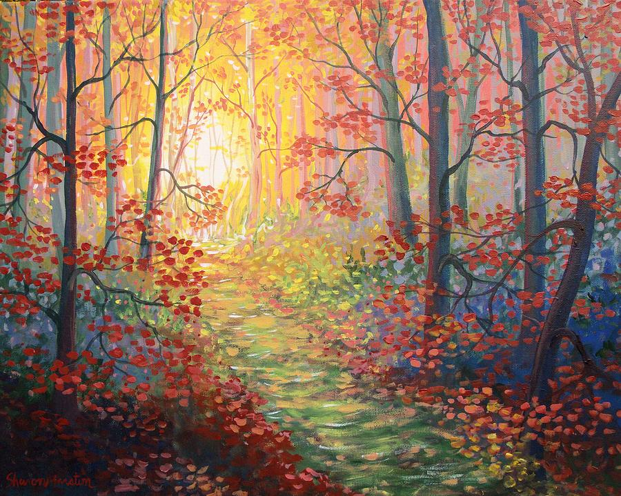 Landscape Painting - Shades Of A Dream by Sharon Marcella Marston