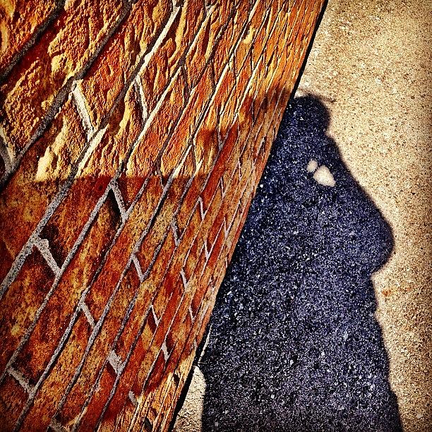 Building Photograph - Shadow Of A Man by Christopher Campbell