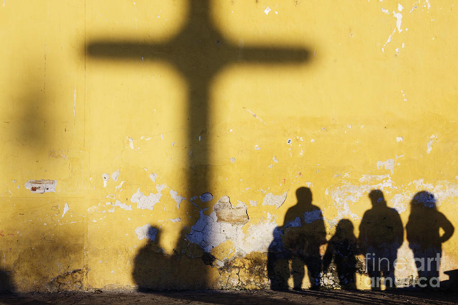 Shadow Of Cross And People Photograph By Jeremy Woodhouse