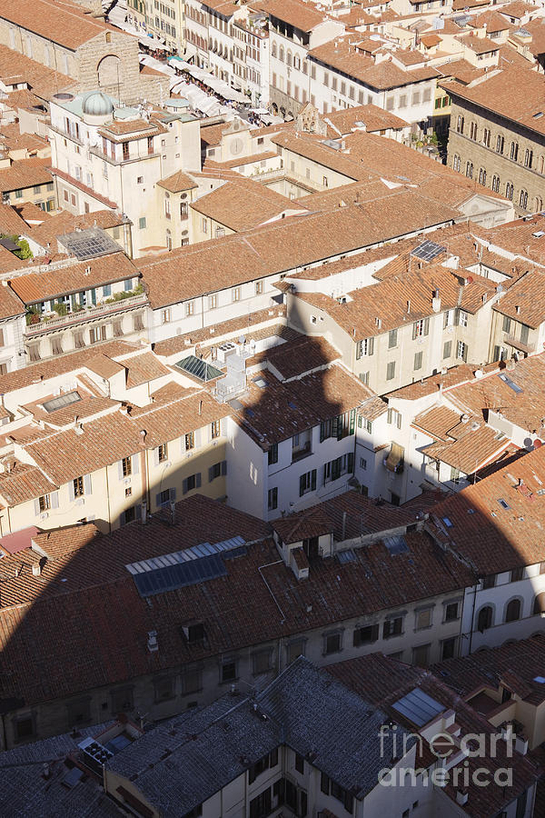 Apartment Photograph - Shadow Of The Duomo On Buildings Of Florence by Jeremy Woodhouse
