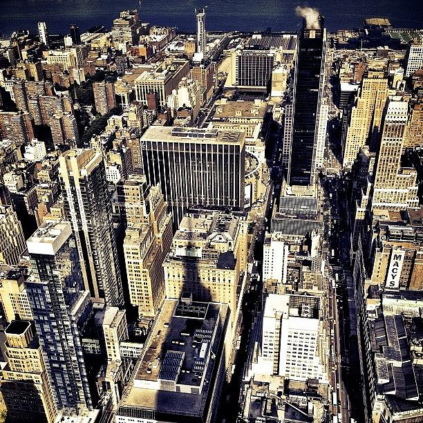 Nyc Photograph - Shadow of the Empire State Building - New York City by Vivienne Gucwa