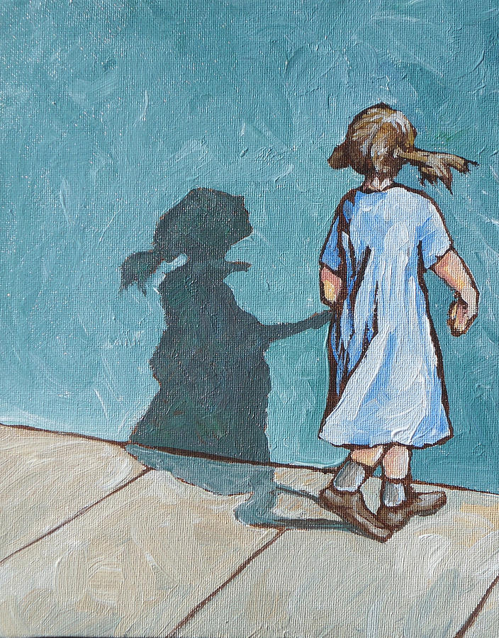 Shadow Painting - Shadow Play by Sandy Tracey