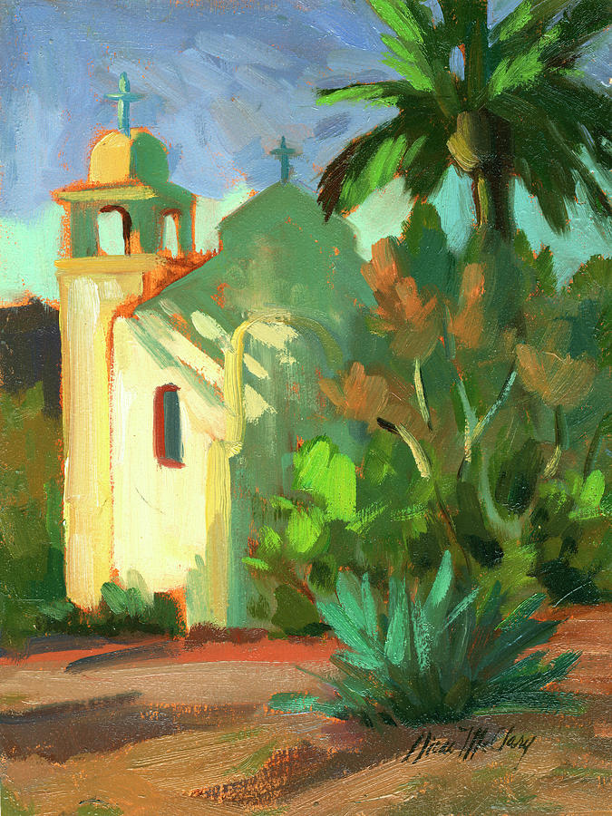 Shadows Painting - Shadows At St. Richards by Diane McClary