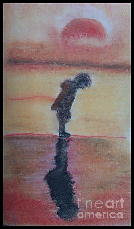 Landscape. Pastel - Shadows. by Deepak Kodapally