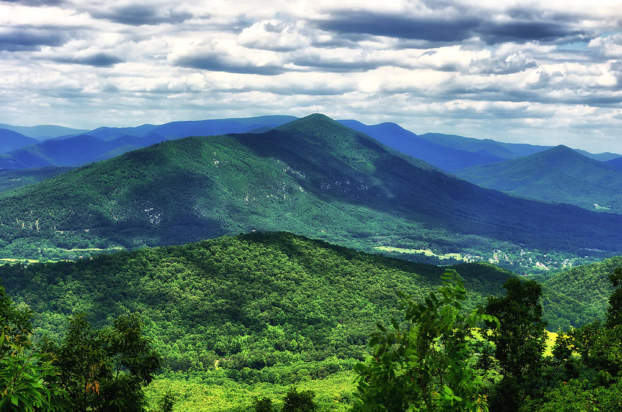 Blue Ridge Parkway Photograph - Shadows On The Mountains by Lori Coleman