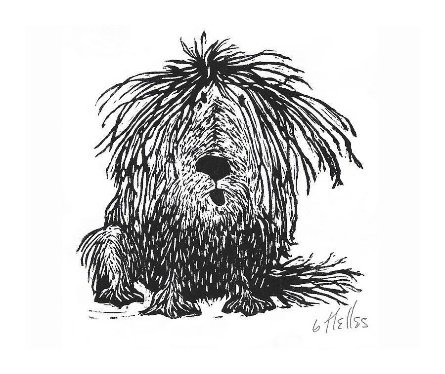 Framed Large Animal Print Dog
