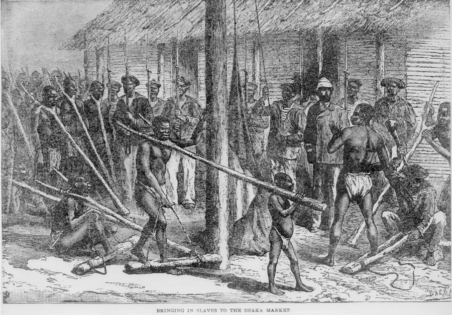 History Photograph - Shaka Slave Market In Africa by Everett