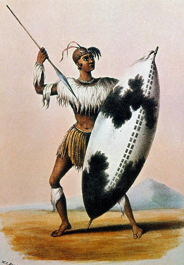 19th Century Photograph - Shaka Zulu (c1787-1828) by Granger